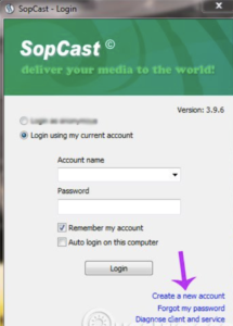 cài đặt thành công phần mềm SopCast
