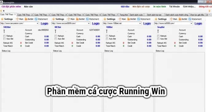 Phần mềm bet banh running win