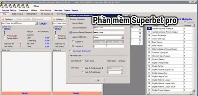 Phần mềm cá độ superbet pro