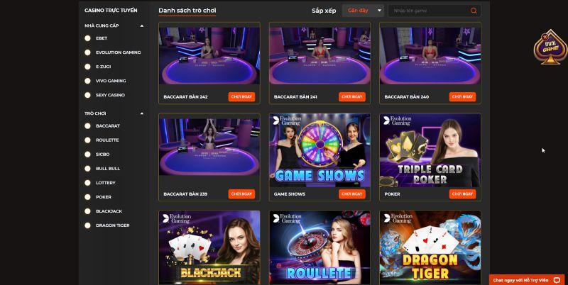Live casino SV88