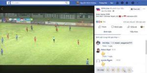 cách xem bóng đá trên facebook